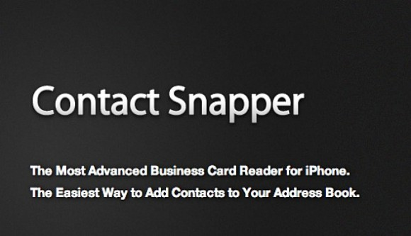 Business card scanner contact snapper reviewiphoneglance contact snapper is a great tool for adding contacts to your address book simply by taking a photo of a business card scanning a qr code reheart Choice Image